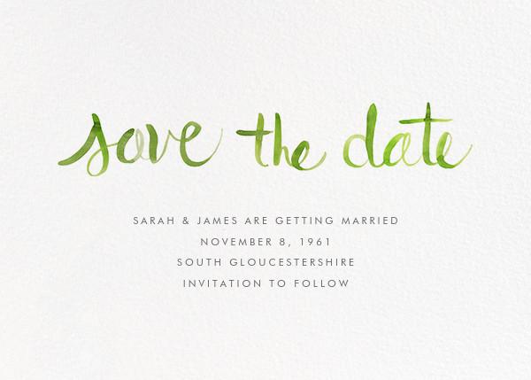 Watercolor Lettering - Green - Linda and Harriett - Classic