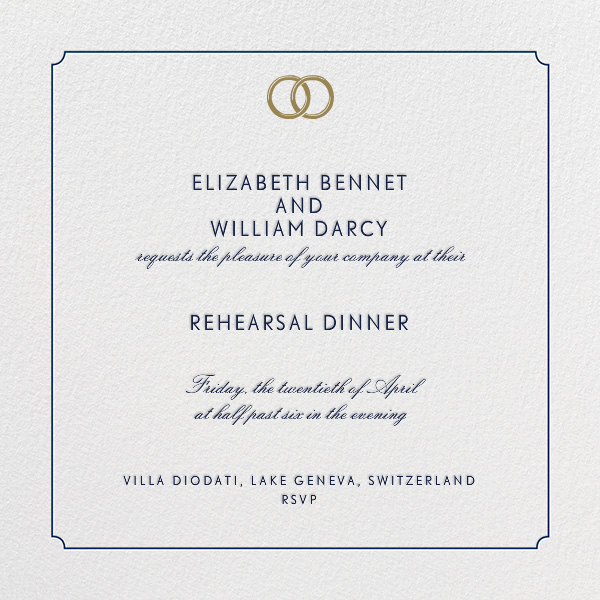 Indented Rounded Corners - Dark Blue - Paperless Post - Rehearsal dinner