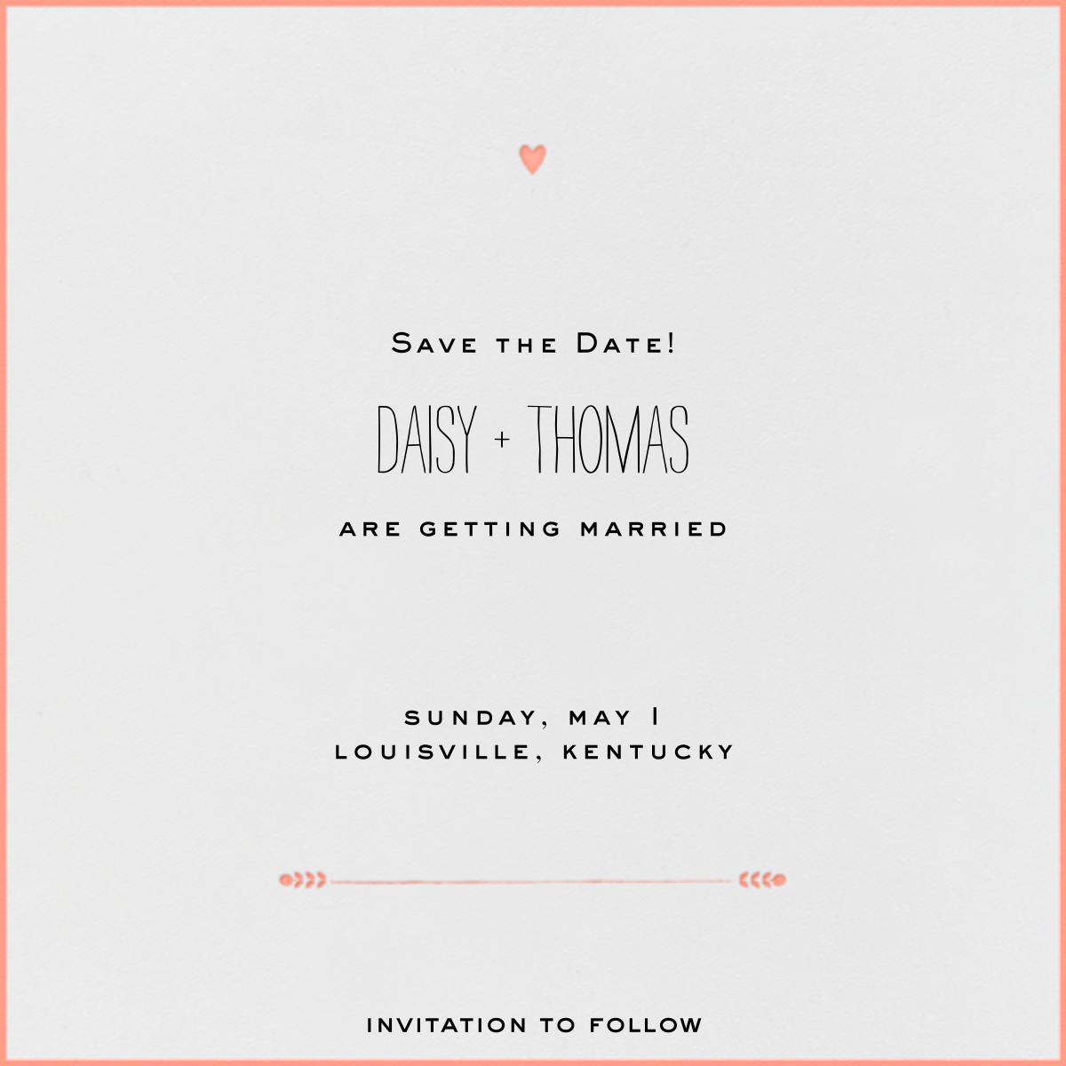 The Raleigh - Guava - Mr. Boddington's Studio - Save the date