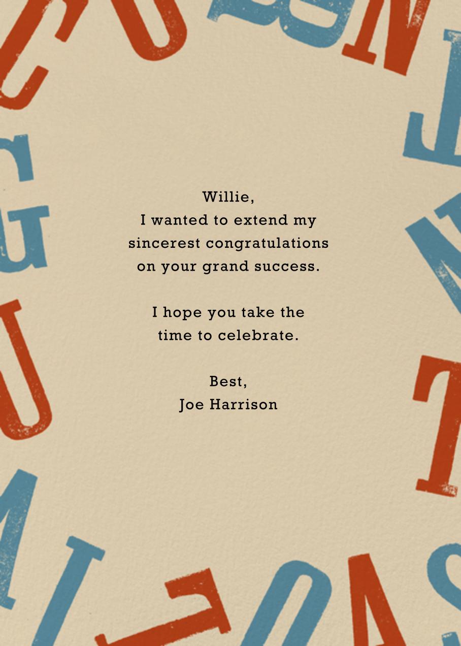 Congratulations Stack - Paperless Post - Congratulations - card back