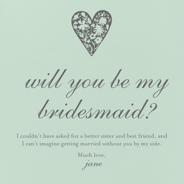 Mint - Paperless Post - Wedding party requests