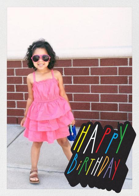 Confetti Letters - Happy Birthday - Paperless Post - Birthday