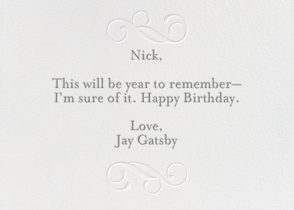 Have A Happy Birthday - silver - Paperless Post - Birthday - card back