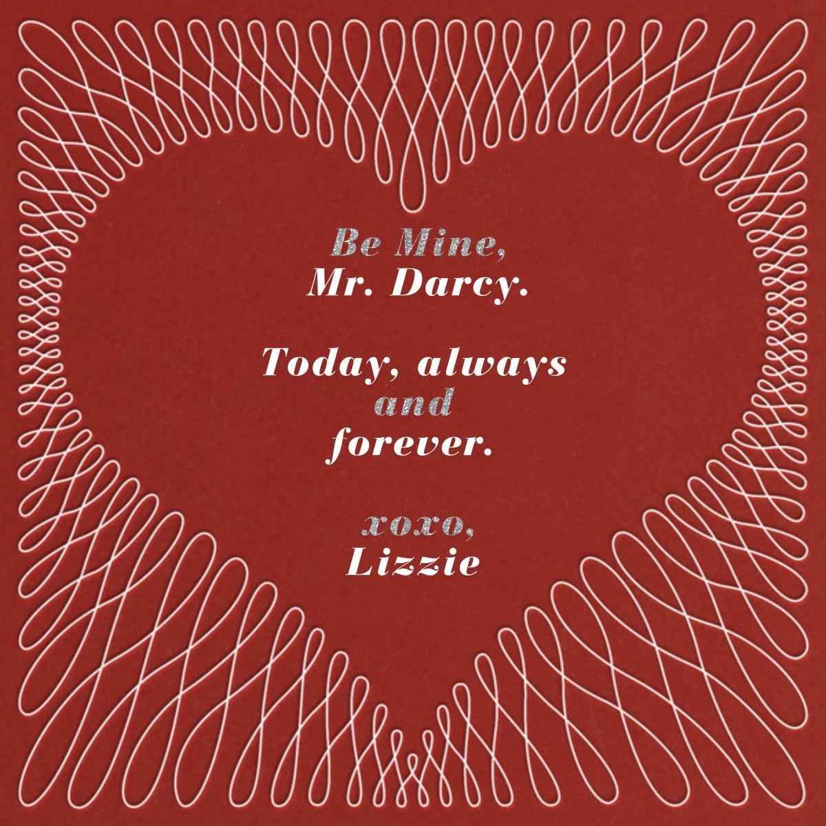 Filigree Heart - Red - Paperless Post