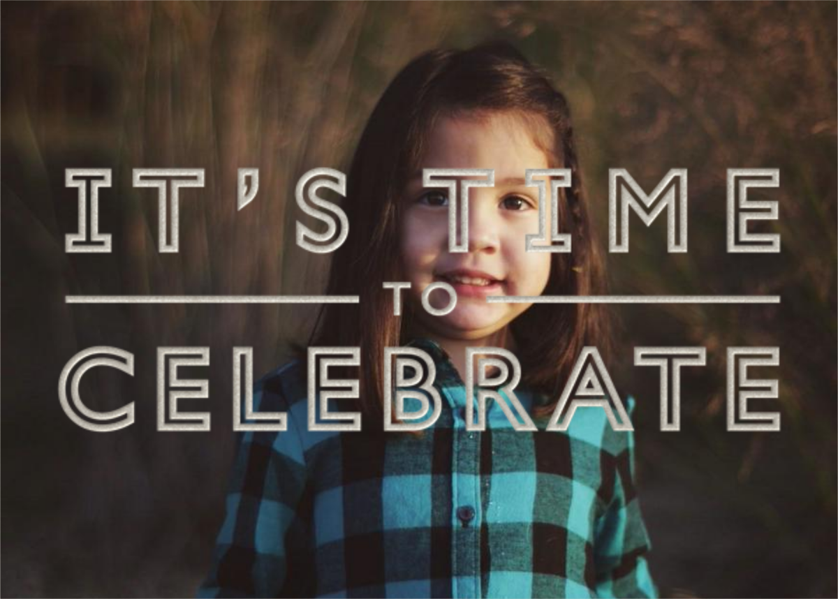 It's Time To Celebrate - Silver - Paperless Post - Adult birthday
