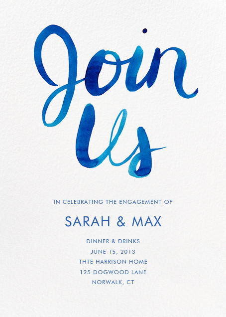 Join Us - Blue - Linda and Harriett - Engagement party