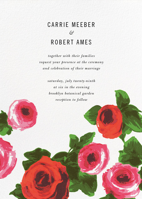 Rose Bed (Invitation) - kate spade new york - All