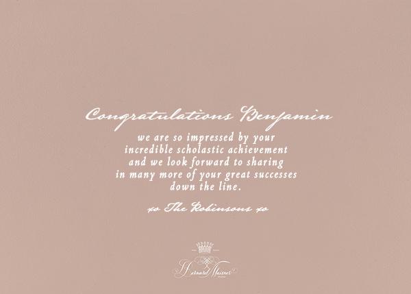 Congratulations Flourish - Rose - Bernard Maisner - Congratulations - card back