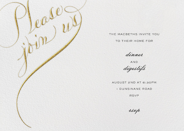 Please Join Us (Horizontal) - Fort Knox - Bernard Maisner - Engagement party