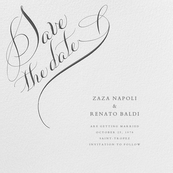 Save The Date Flourish - Ivory - Bernard Maisner - Party save the dates