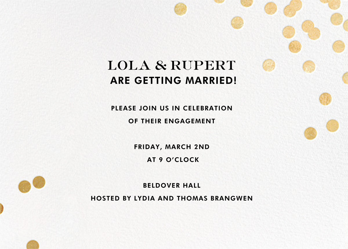 Confetti - White/Gold - kate spade new york - Engagement party