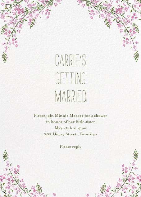 Heathers (Invitation) - Lilac - Paperless Post - Bridal shower