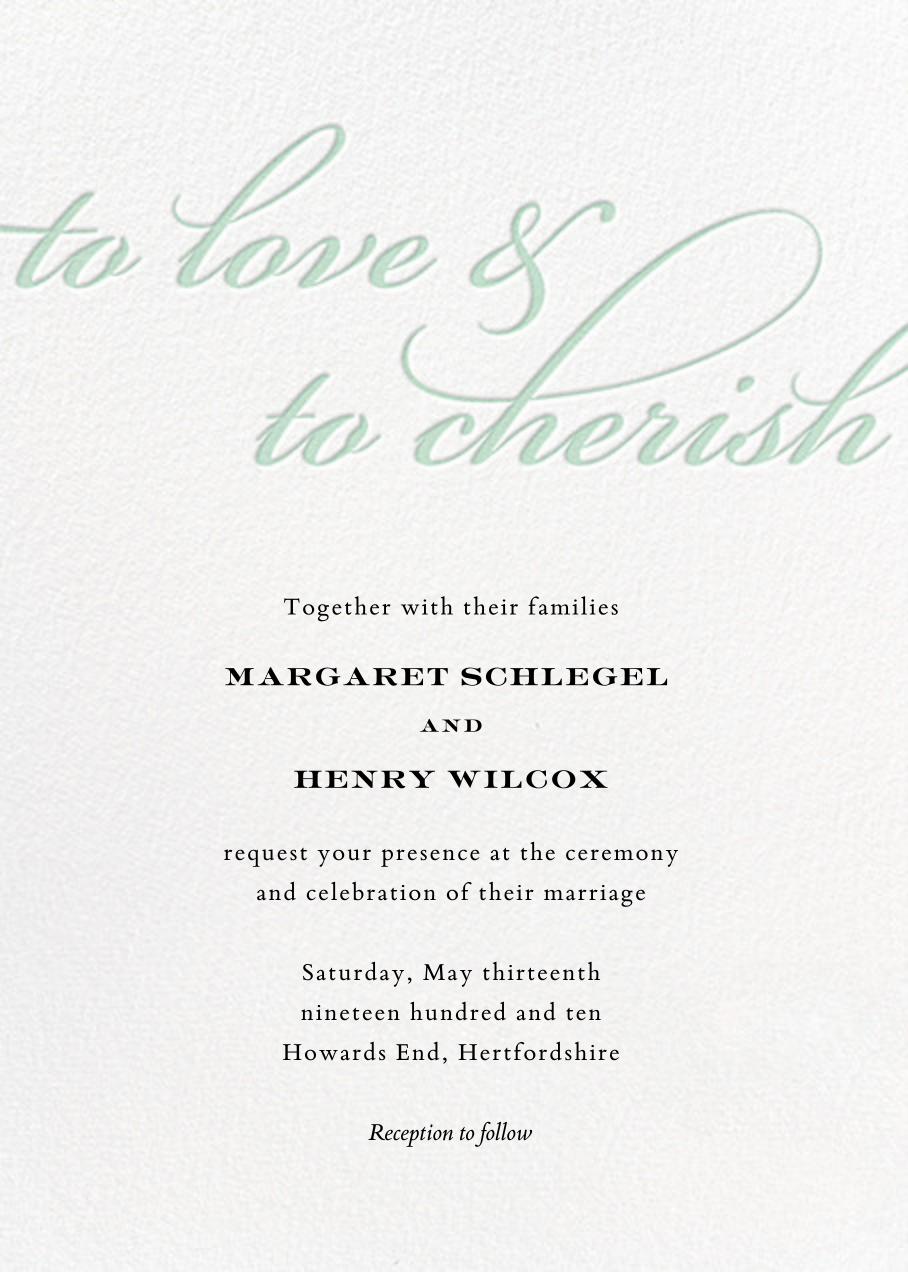 Simple Script (Invitation) - Mint - Paperless Post - All