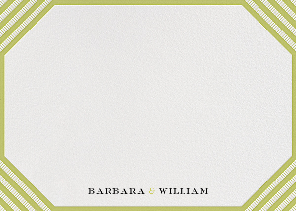 Claridge (Horizontal) - Chartreuse - Paperless Post - null