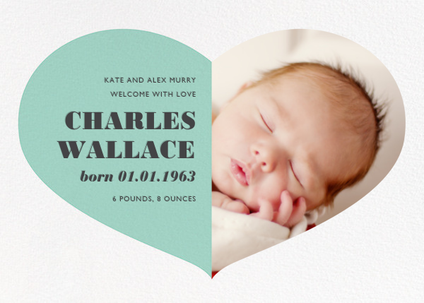 Love Saves the Date - Celadon - Paperless Post - Birth