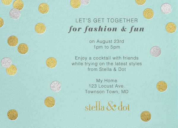 Stella And Dot Dots - Gold - Paperless Post - null