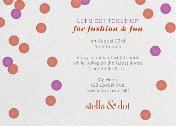 Stella And Dot Dots - Orange - Paperless Post - null