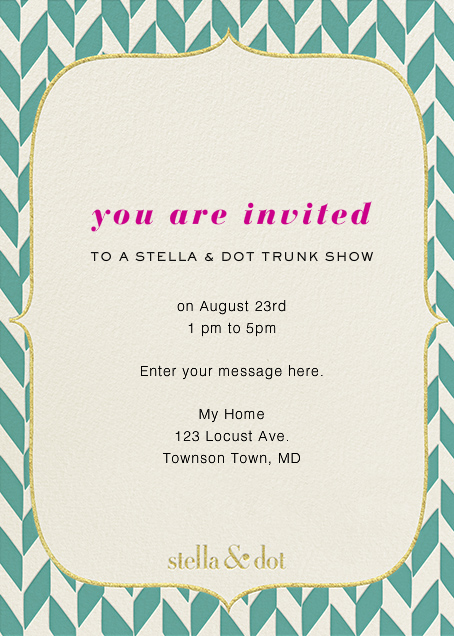 Stella And Dot Vertical - Blue - Paperless Post - null