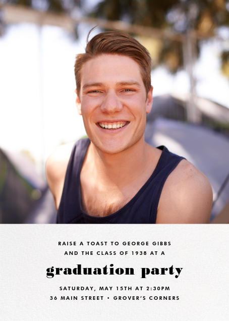 Split Screen - White - Paperless Post - Graduation party