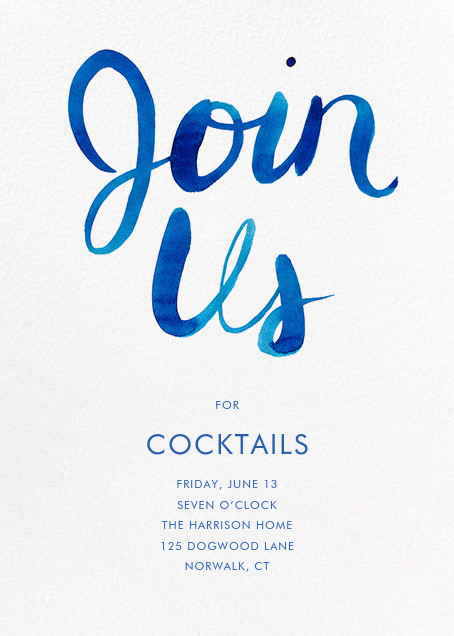 Join Us - Blue - Linda and Harriett - Cocktail party