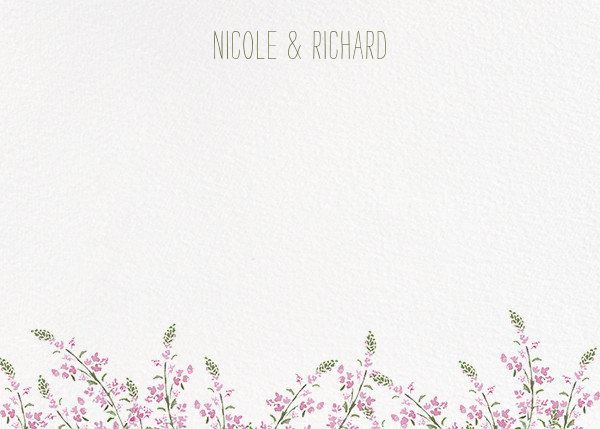 Heathers (Stationery) - Lilac - Paperless Post - Personal Stationery