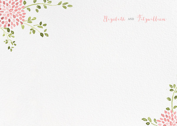 Dahlias (Thank You) - Blossom - Paperless Post - Wedding stationery