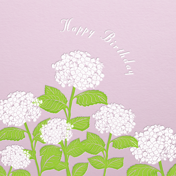 Hydrangea (Blush) - Paperless Post - Birthday