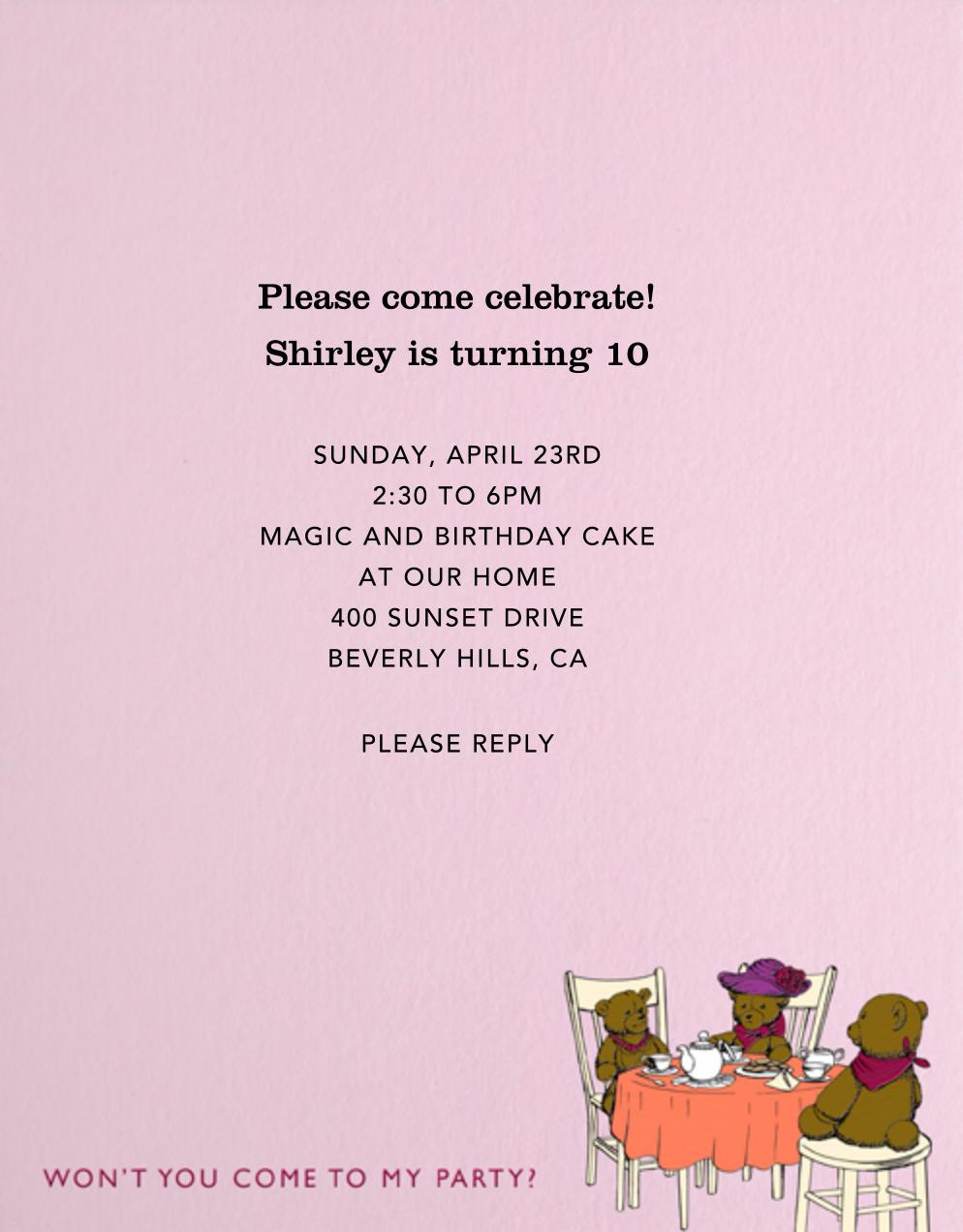 Tea Party (Pink) - Paperless Post - Kids' birthday