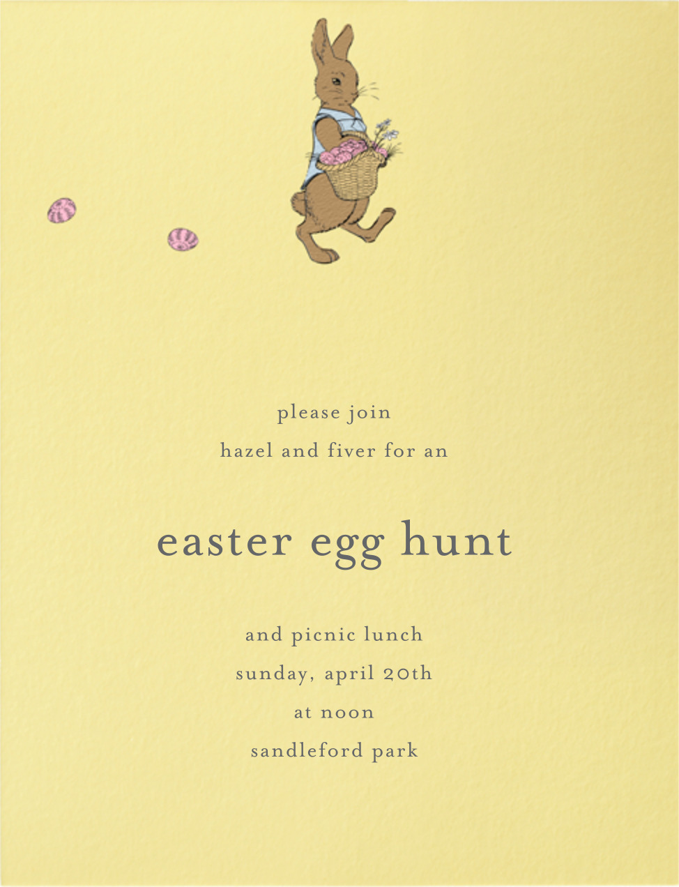 Easter Bunny (Buttercup) - Paperless Post - Easter
