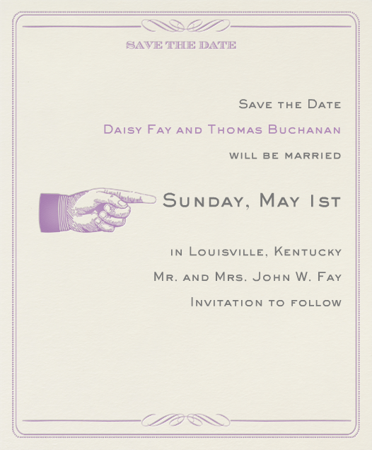 Antique Press (Save The Date) - Lilac/Cream - Paperless Post - null