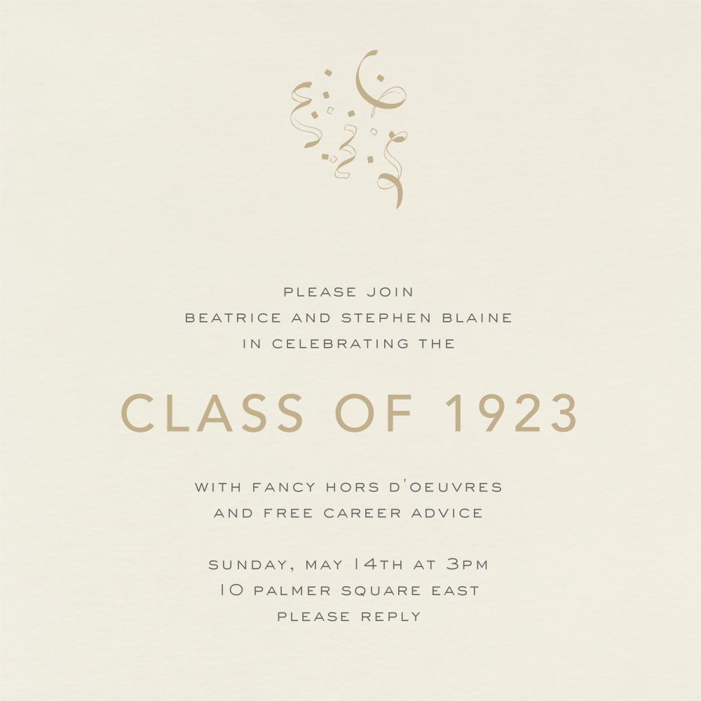 Cream (Square) - Paperless Post - Graduation party