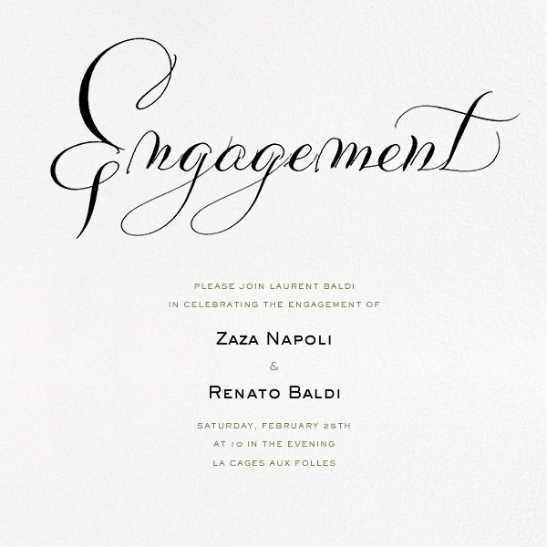 Engagement - Ivory - Bernard Maisner - Engagement party