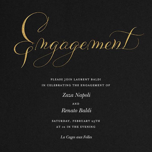 Engagement - Black - Bernard Maisner - Engagement party