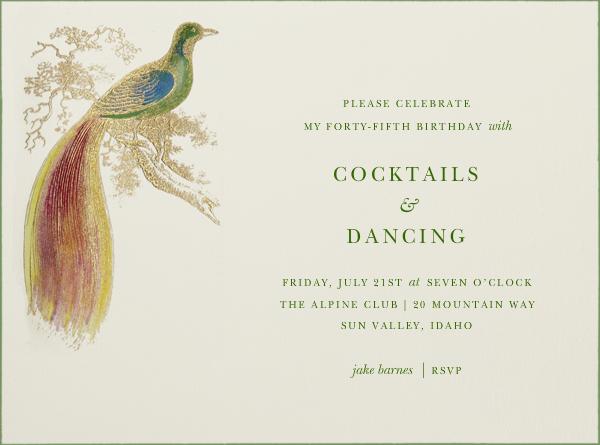 Hand Painted Bird of Paradise - Green - Bernard Maisner - General entertaining