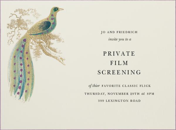 Hand Painted Bird of Paradise - Purple - Bernard Maisner - General entertaining