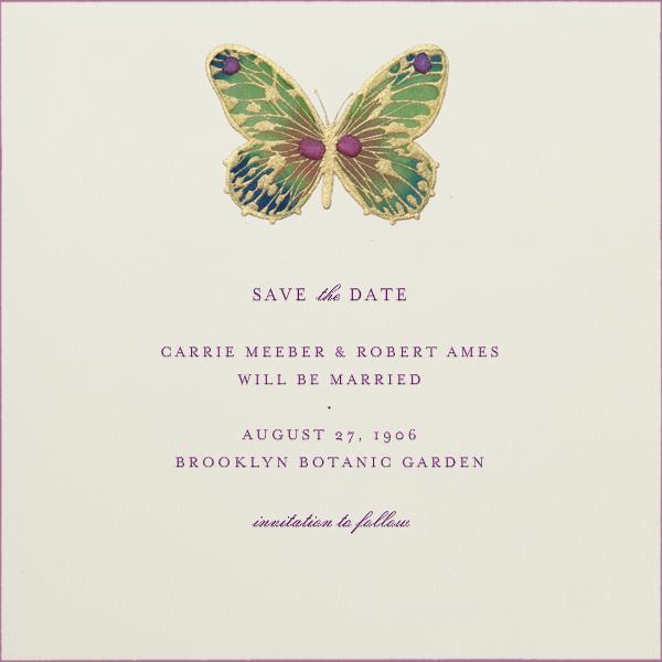 Hand Painted Butterfly - Green Pink - Bernard Maisner - General entertaining
