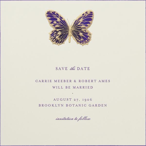 Hand Painted Butterfly - Second Purple - Bernard Maisner - General entertaining