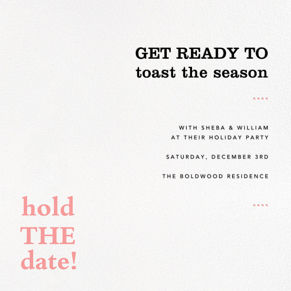Hold the Date - Paperless Post