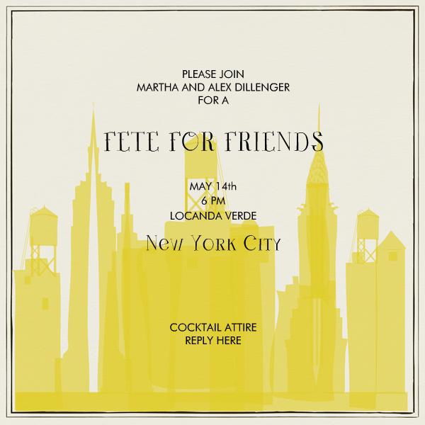 I Love New York - Sunshine - Mr. Boddington's Studio - Cocktail party