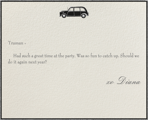 London Taxi - Paperless Post - Personalized stationery