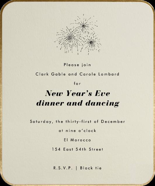 Saint Germain - Paperless Post - New Year's Eve