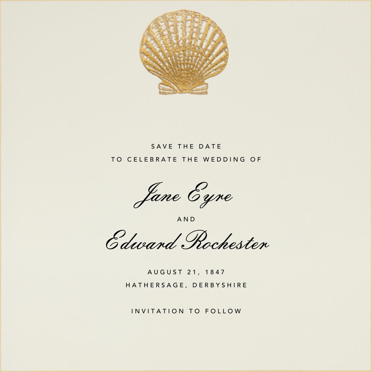 Scallop Shell - Gold - Bernard Maisner - Beach party