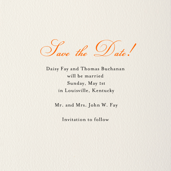 Simple Edge (Cream with Orange) - Paperless Post - null - card back