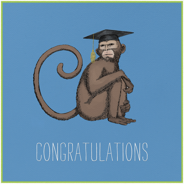 Wise Monkey - Paperless Post - Congratulations