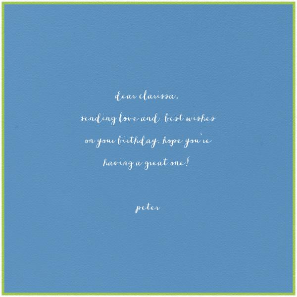 Monkey (Dempsey Blue) - Paperless Post - Free birthday eCards - card back