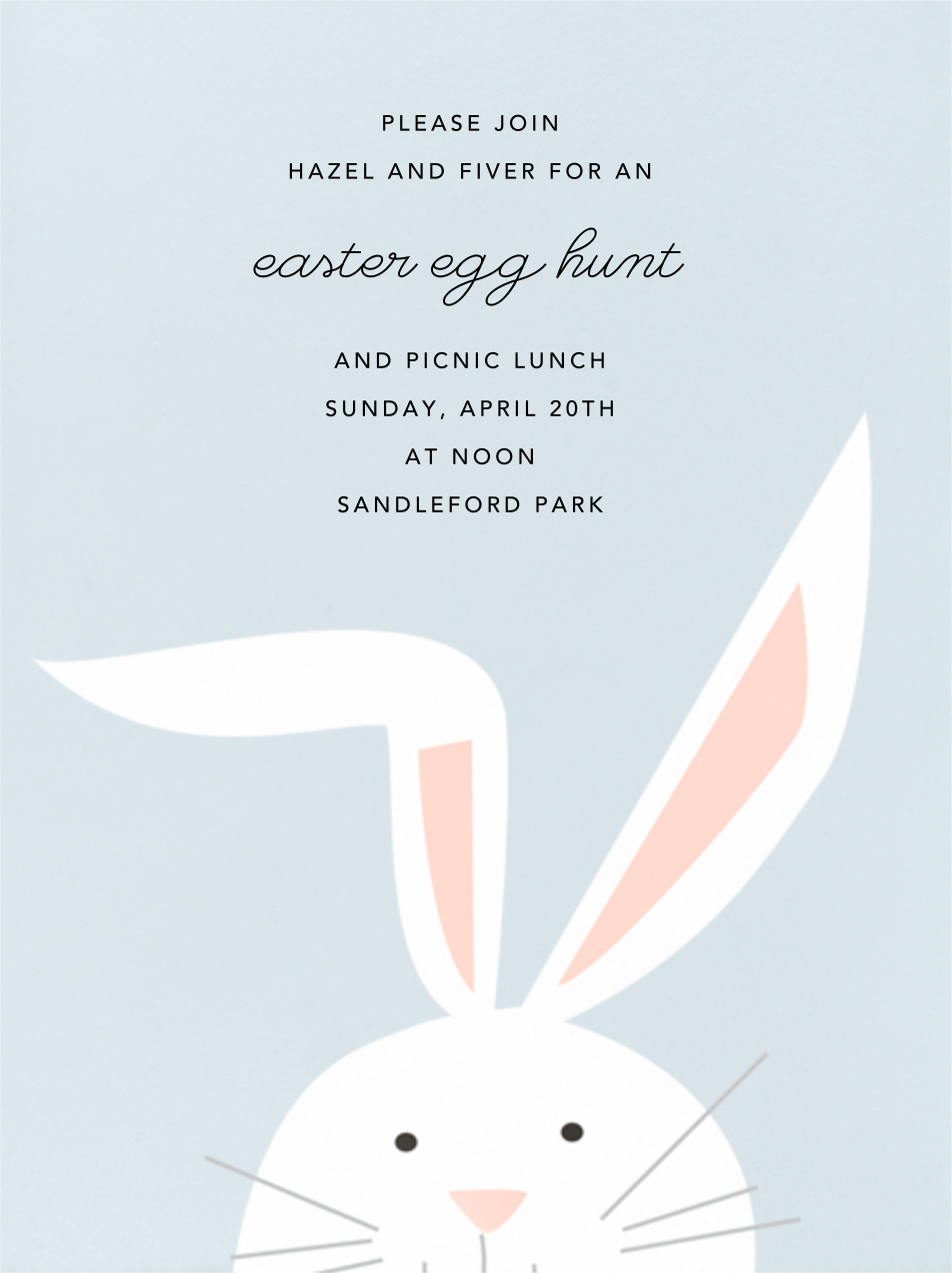 Bunny - Frost - Paperless Post - Easter