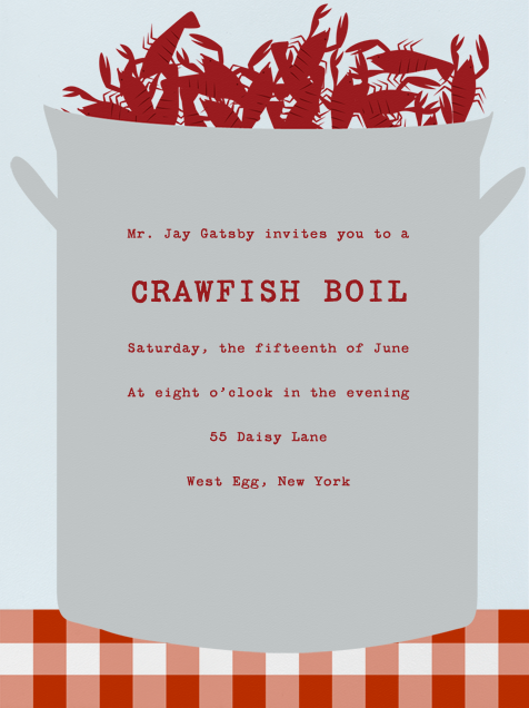 Crawfish Boil online at Paperless Post
