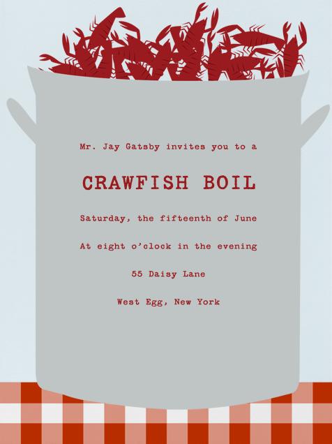 Crawfish Boil online at Paperless Post