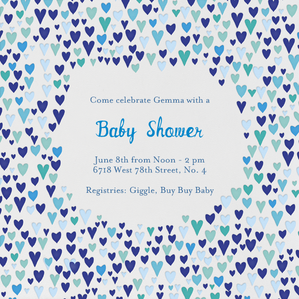 Baby Love - Blues - Mr. Boddington's Studio - Baby shower