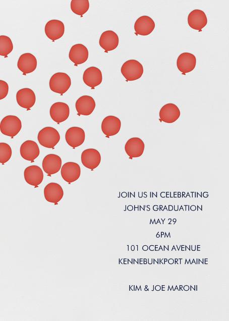 Balloons - Red - Linda and Harriett - Graduation party